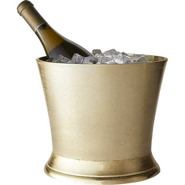 gilded gold ice bucket-wine chiller - CB2