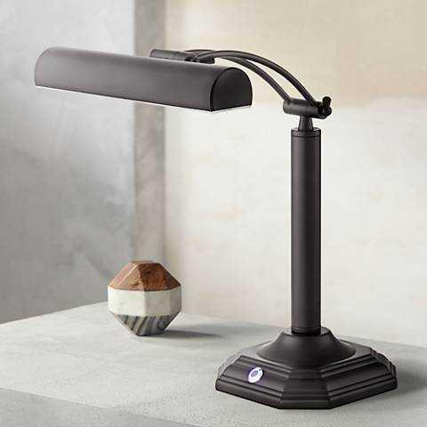 Grady Bankers Bronze LED Piano Desk Lamp black - Lamps Plus