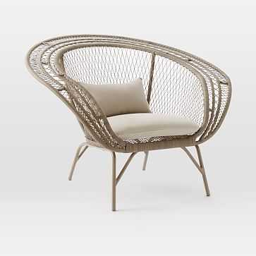 Modern Peacock Chair, Stone / Cement - West Elm