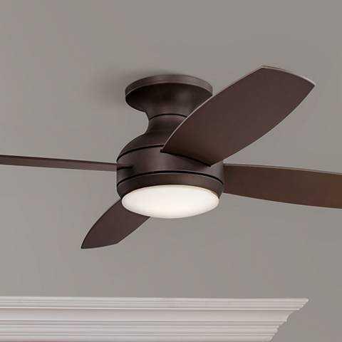 "52"" Casa Elite Oil-Rubbed Bronze LED Hugger Ceiling Fan - Lamps Plus"