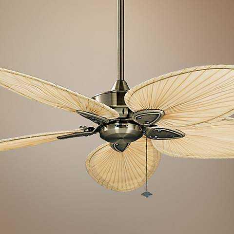 """52"""" Fanimation Windpointe Antique Brass 5-Blade Ceiling Fan - Lamps Plus"""