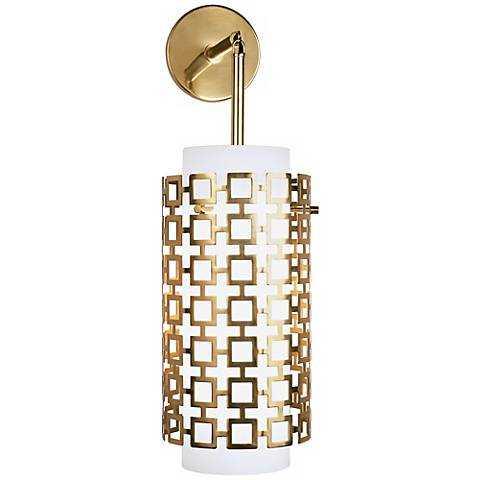 """Jonathan Adler Parker 22 1/4"""" High Brass Sconce - Lamps Plus"""