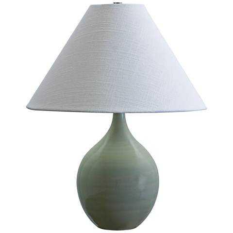 "Scatchard Stoneware 19"" High Celadon Green Table Lamp - Lamps Plus"