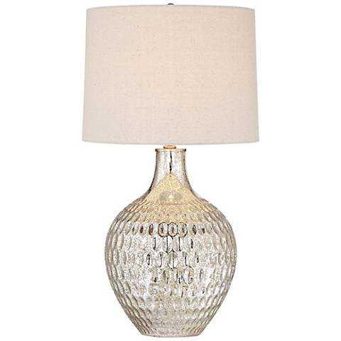 Waylon Mercury Glass Table Lamp - Lamps Plus