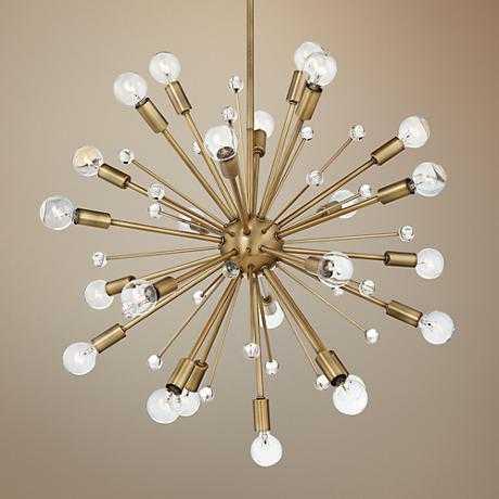 """Savoy House Galea 23"""" Wide Warm Brass 24-Light Chandelier - Lamps Plus"""