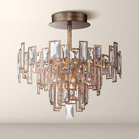 "Metropolitan Bel Mondo 18 1/2"" Wide Gold Ceiling Light - Lamps Plus"