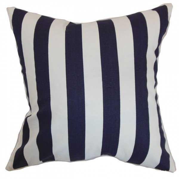 Ilaam Stripes Pillow Blue - 20x20 - Linen & Seam