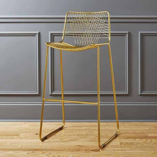 """alpha brass 30"""" bar stool"" - CB2"