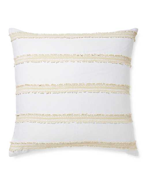 Sevilla Pillow Cover: White/Ivory - Serena and Lily