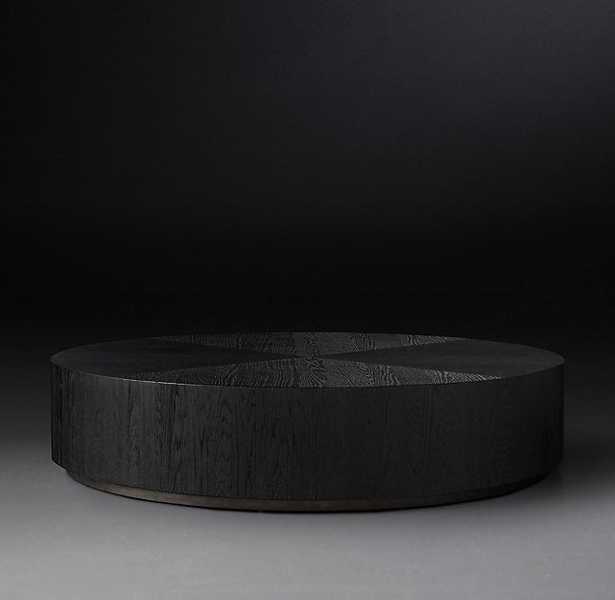 "Machinto round coffee table, 36"" - RH"