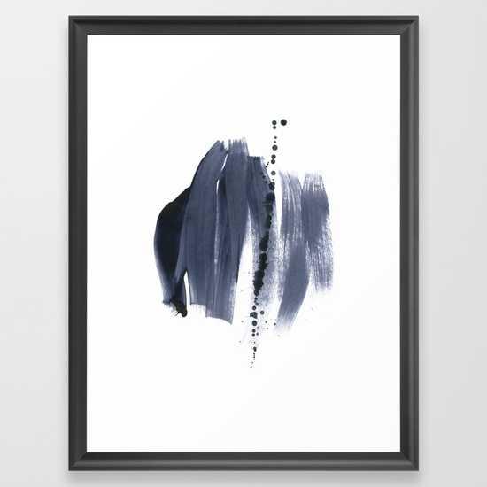 brush strokes 10 - FRAMED ART PRINT SCOOP BLACK MEDIUM (GALLERY) - Society6