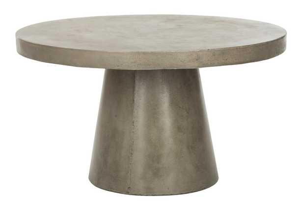 Delfia Modern Concrete Round Coffee Table - Arlo Home