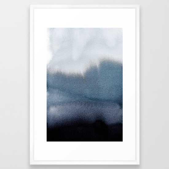 "In Blue Art Print - 26"" x 38"" - Vector White - Society6"
