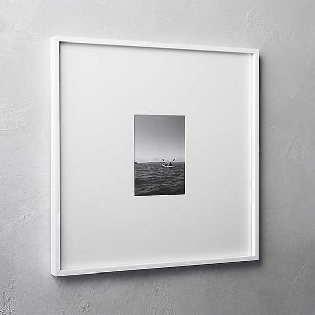 gallery white 5x7 picture frame - CB2