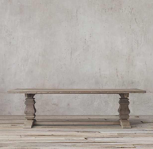 """SALVAGED WOOD TRESTLE RECTANGULAR EXTENSION DINING TABLE- 60"""" - RH"""