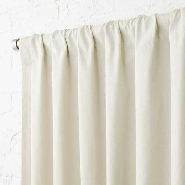 """""""Natural Tan Basketweave II Curtain Panel 48""""""""x120"""" - CB2"""