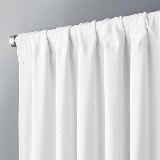 "White Basketweave II Curtain Panel 48""x84"" - CB2"