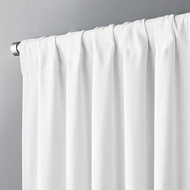 "white basketweave ii curtain panel 48""x120"" - CB2"
