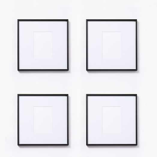 """Gallery Frames - Polished Antique Bronze - Set of 4 - 12""""x12"""" - West Elm"""