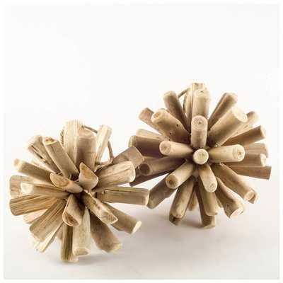 Brown Stick Ball with Rope Wooden Sculpture - Wayfair
