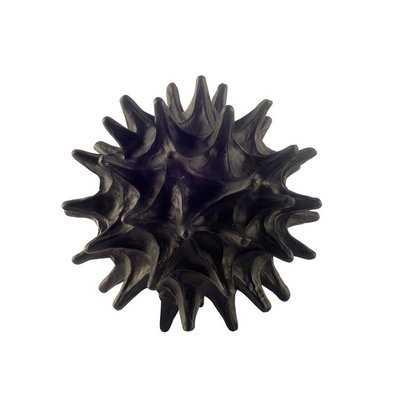 Sea Urchin Black Resin Sculpture - Wayfair