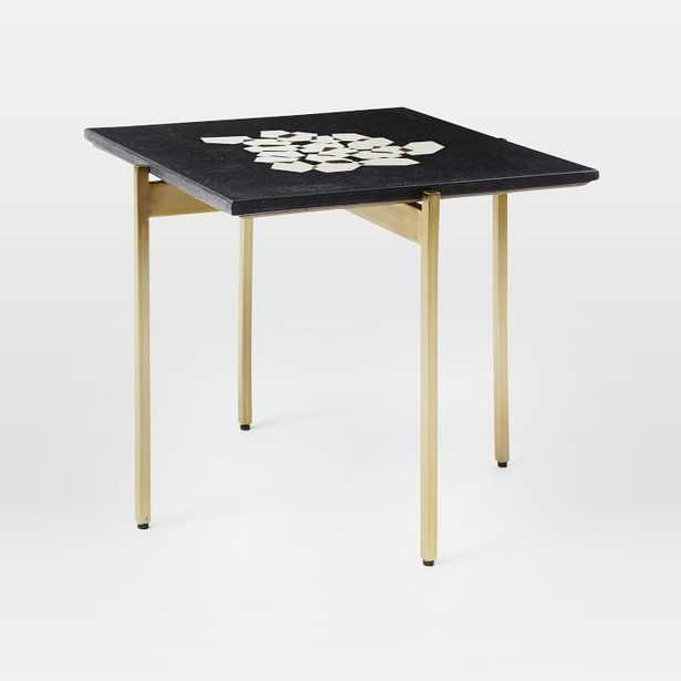 Graphic Marble Inlay Side Table - Hexagons - West Elm