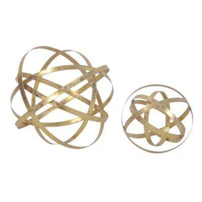 2 Piece Sphere Sculpture Set - Wayfair