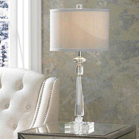 Aline Modern Crystal Table Lamp by Vienna Full Spectrum - Lamps Plus