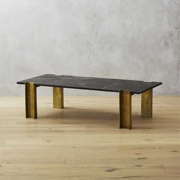 Alcide Black Marble Coffee Table - CB2