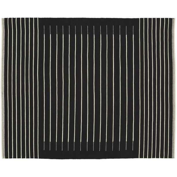 Black with White Stripe Rug 8'x10' - CB2