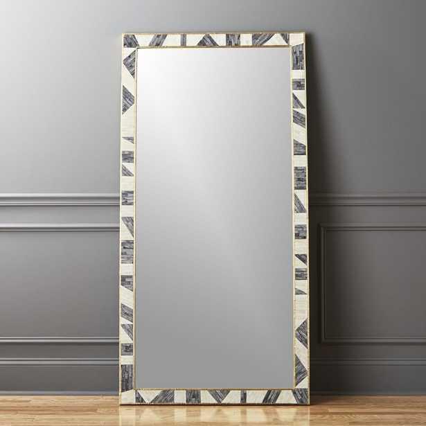 """Grace Bone Inlay Floor Mirror 36"""" x 72"""" - CB2"""