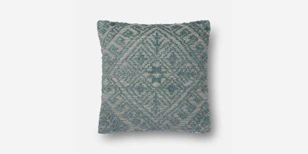 P0550 BLUE PILLOW WITH DOWN INSERT - Loma Threads