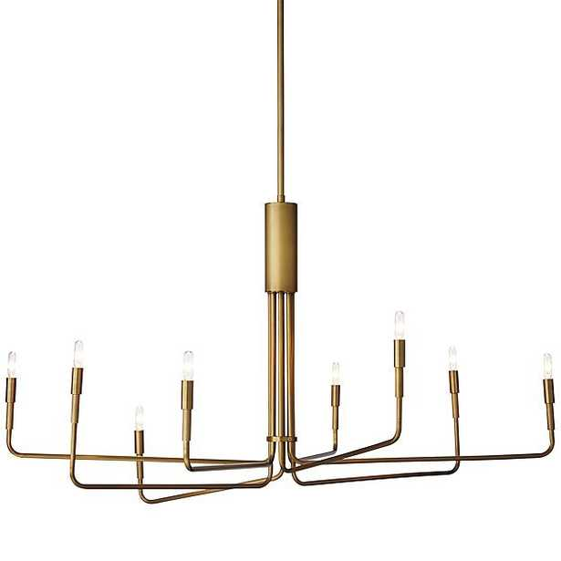 Clive Large Brass Chandelier - 8 Arm - Crate and Barrel