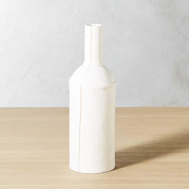 Bottle White Vase - CB2