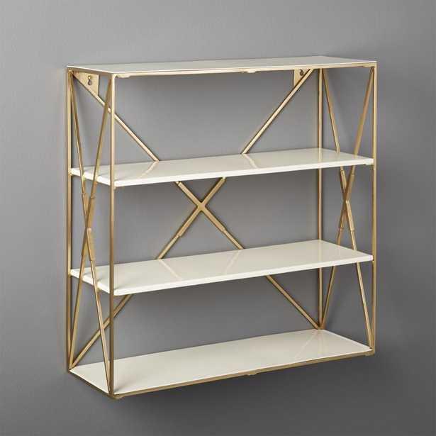 Smith Large Brass Wall Shelf - CB2