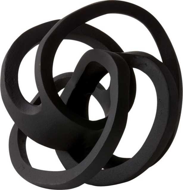 "Infinity Black Knot Sculpture - 9""H - CB2"