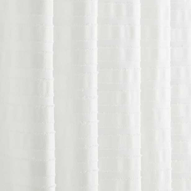 Ribbon Ivory Shower Curtain - CB2