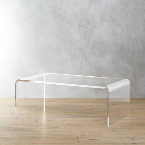 peekaboo acrylic tall coffee table - CB2
