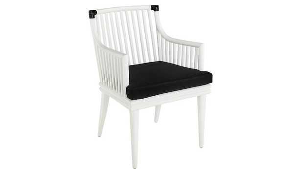 mae white rattan chair - CB2