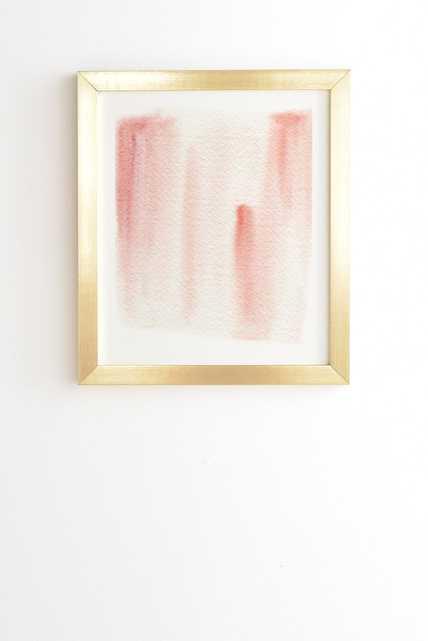 BASKING Framed Wall Art - 11''x13''- Basic Gold frame - Wander Print Co.
