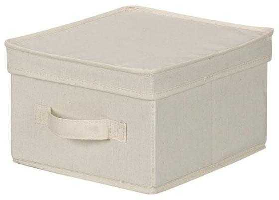 CANVAS STORAGE BOX WITH LID - JUMBO - Home Depot