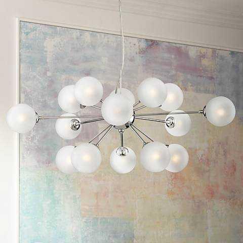 """Ramona 32""""W LED Pendant Light by Possini Euro Design - Lamps Plus"""