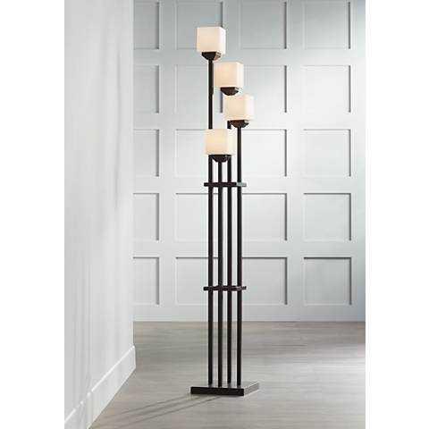Light Tree Four Light Bronze Torchiere Floor Lamp - Lamps Plus
