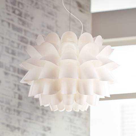 Possini Euro Design White Flower Pendant Chandelier - Lamps Plus