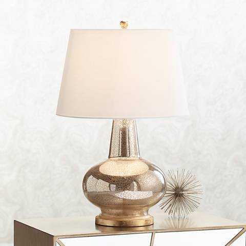 Errol Long Neck Gourd Mercury Glass Table Lamp - Lamps Plus