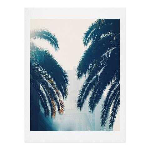 "California Blue -19"" x 22.4""-Framed ( White) - Wander Print Co."