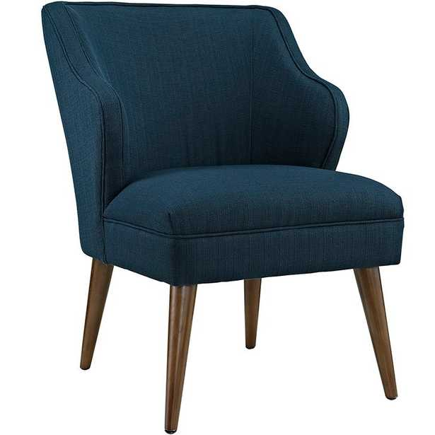 SWELL UPHOLSTERED FABRIC ARMCHAIR IN AZURE - Modway Furniture