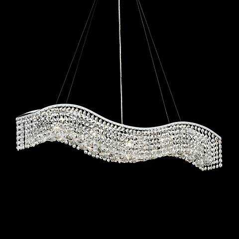"""James R. Moder Crystal Wave 36"""" Contemporary Chandelier - Lamps Plus"""