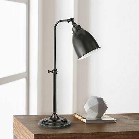 Dark Bronze Metal Adjustable Pole Pharmacy Table Lamp - Lamps Plus