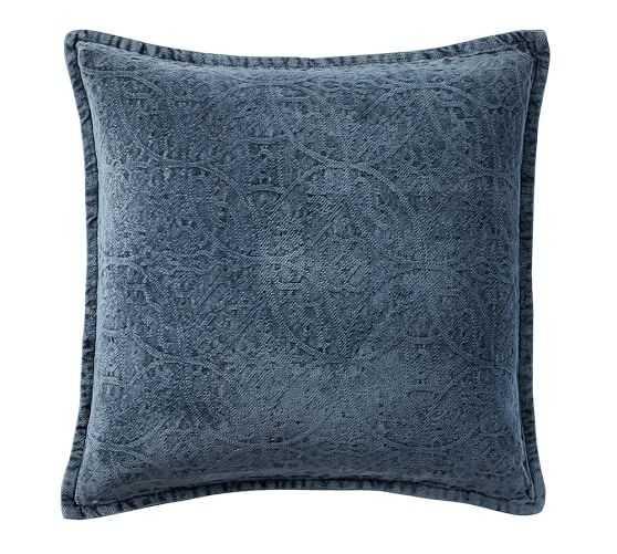 "Chenille Jacquard Pillow Cover, Sailor Blue / 20"" x 20"" - Pottery Barn"